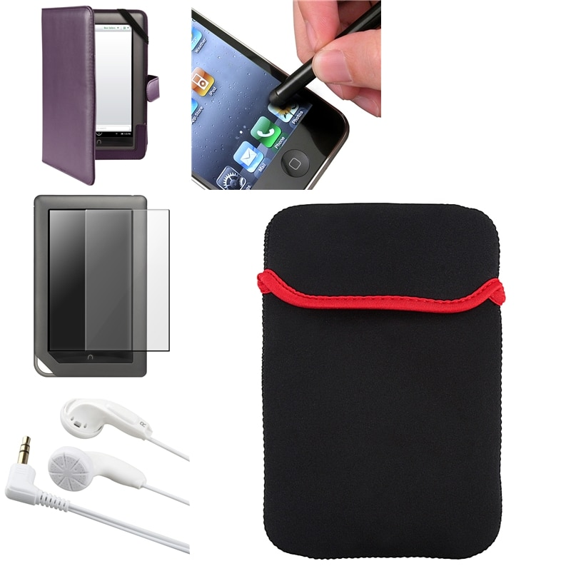 Case/ LCD Protector/ Headset/ Stylus for Barnes and Noble Nook Color