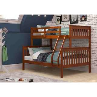 Link to Donco Kids Mission Twin / Full Bunk Bed in Espresso Similar Items in Kids' & Toddler Furniture