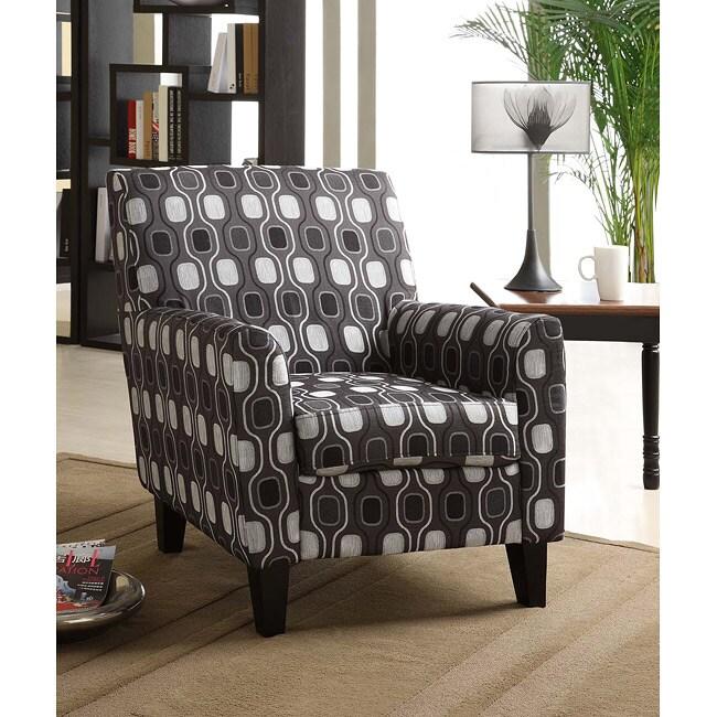 Gray Circle Fabric Club Chair