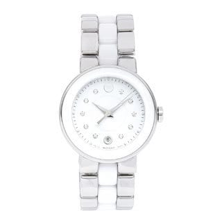 Movado Women's Steel and Ceramic 'Cerena' Watch