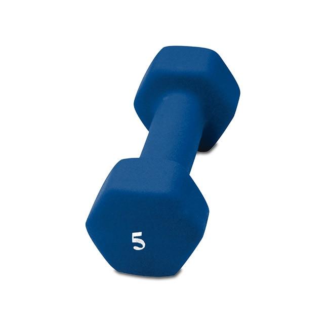 CAP Barbell 5 Pound Cast Iron Neoprene Dumbbell