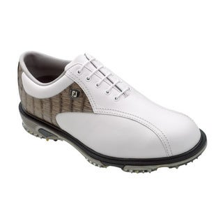 FootJoy Men's DryJoys Tour White/ Croc Golf Shoes
