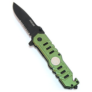 Defender Green 7.5-inch Folding Knife with Clip