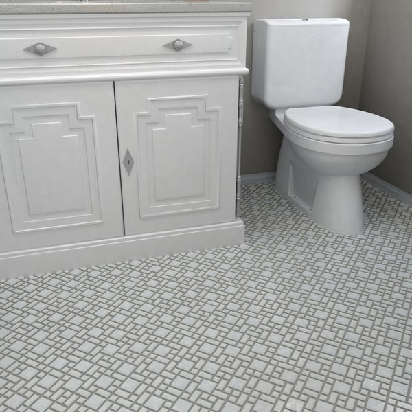 SomerTile 11.75x11.75-inch Academy White Porcelain Floor and Wall Tile (Case of 10)