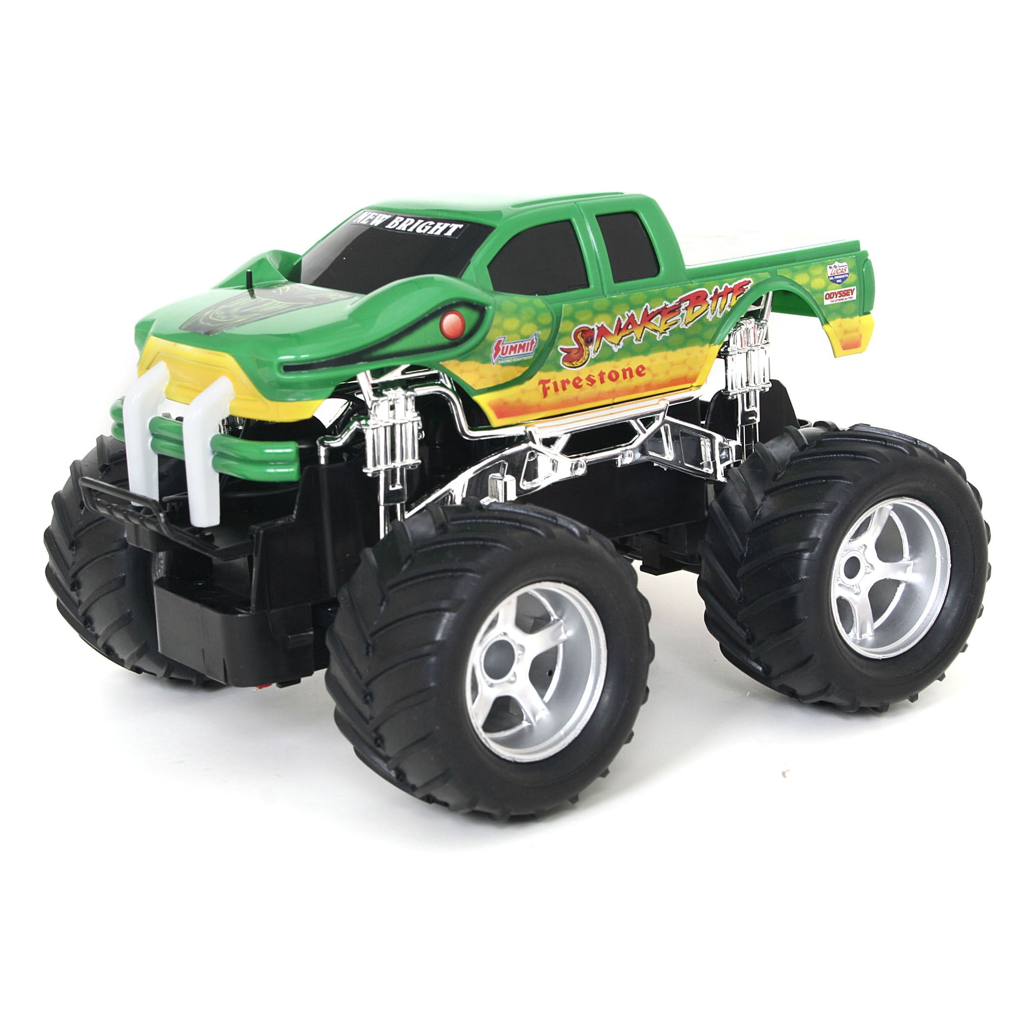 Snake Bite Green R/C Monster Truck - Thumbnail 0