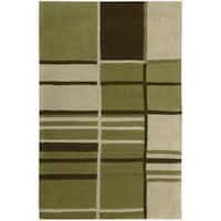 Nourison Hand-tufted Dimensions Green Rug - 7'6 x 9'6