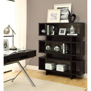 Cappuccino Hollow-Core Modern Bookcase