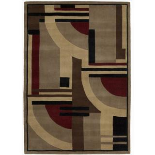 """Nourison Casual Hand-Tufted Dimensions Multicolor Rug (3'6"""" x 5'6"""")"""