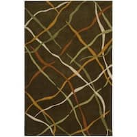 Nourison Hand-tufted Dimensions Brown Rug - 3'6 x 5'6