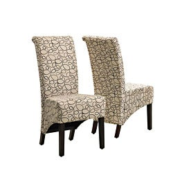 Tan Swirl Parson Chair (Set of 2)