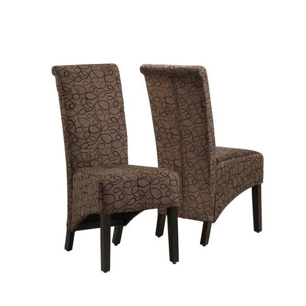 Brown Swirl Parson Chair (Set of 2)
