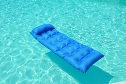 Neo Noodle Maggie Blue Inflatable Pool Lounger with Attached Pillow - Thumbnail 1