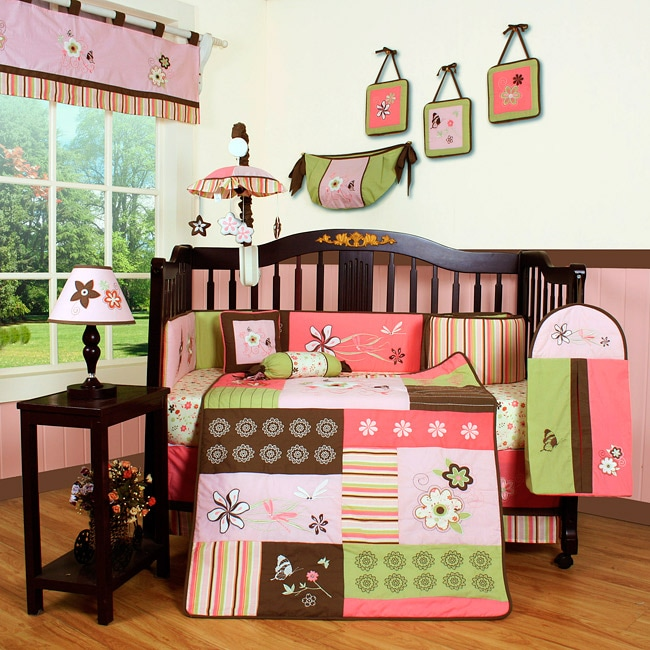 Floral Dream 13-piece Crib Bedding Set