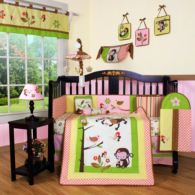 Geenny Monkey Jungle 13-piece Crib Bedding Set