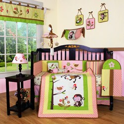 Geenny Monkey Jungle 13-piece Crib Bedding Set