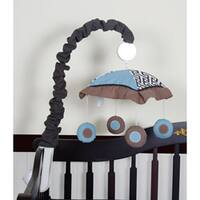 Geenny Blue Brown Scribbles Musical Mobile