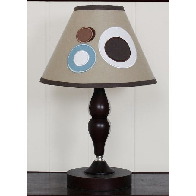 Blue Brown Scribbles Lamp Shade