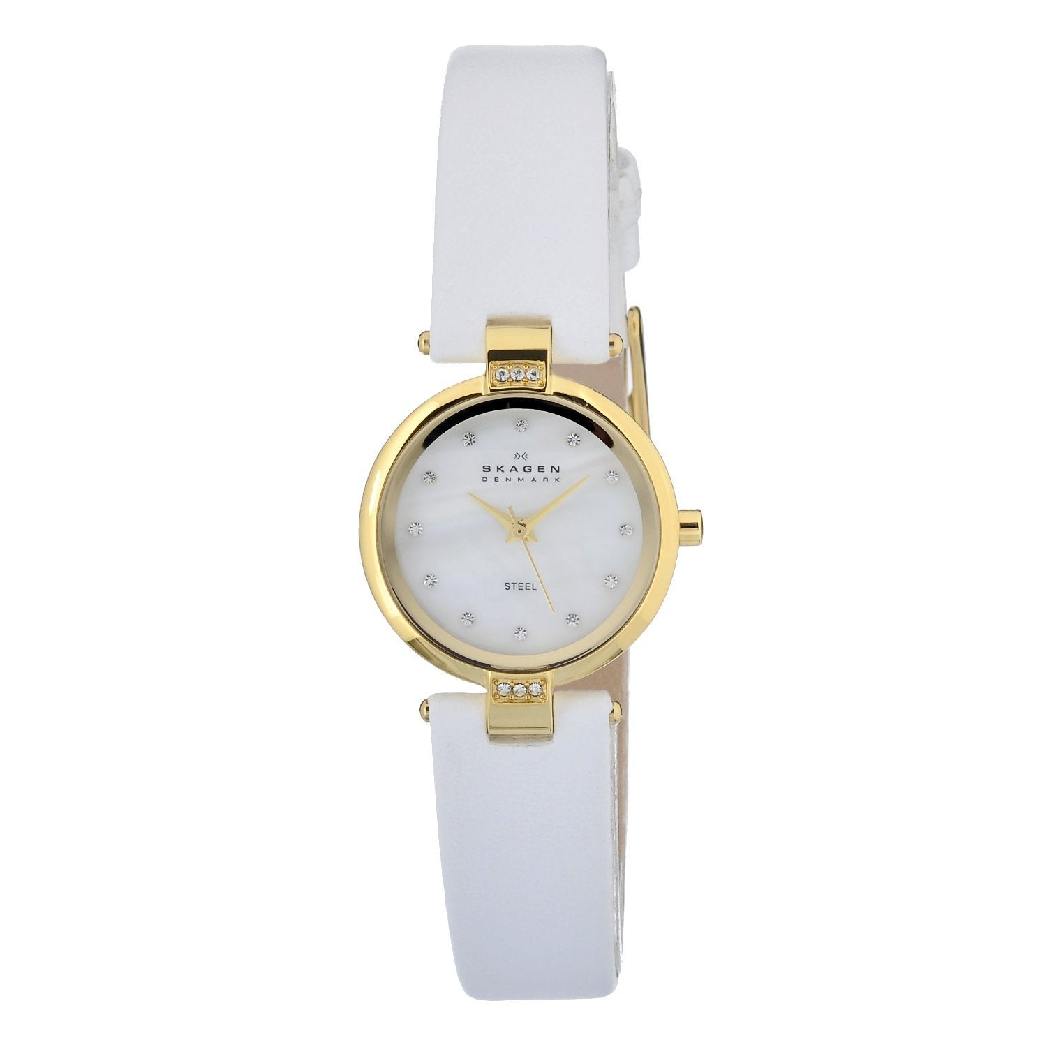 d461fe23d Shop Skagen Women's MOP Dial Element White Leather Strap Watch - Free  Shipping Today - Overstock - 6803588