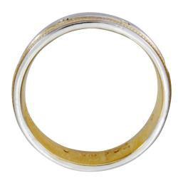 14k Two-tone Gold Men's 1/6ct TDW Diamond Wedding Band (G-H, SI1-SI2)