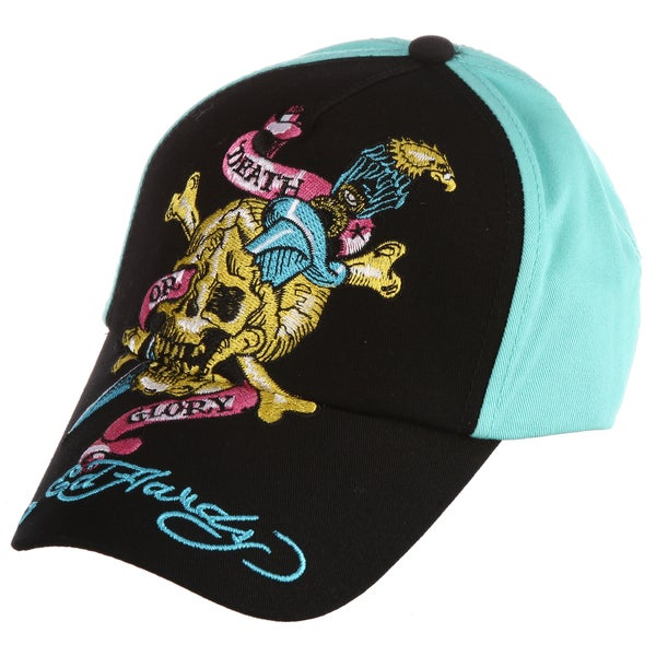 Ed Hardy Boys' 'Skull and Sword' Embroidered Hat
