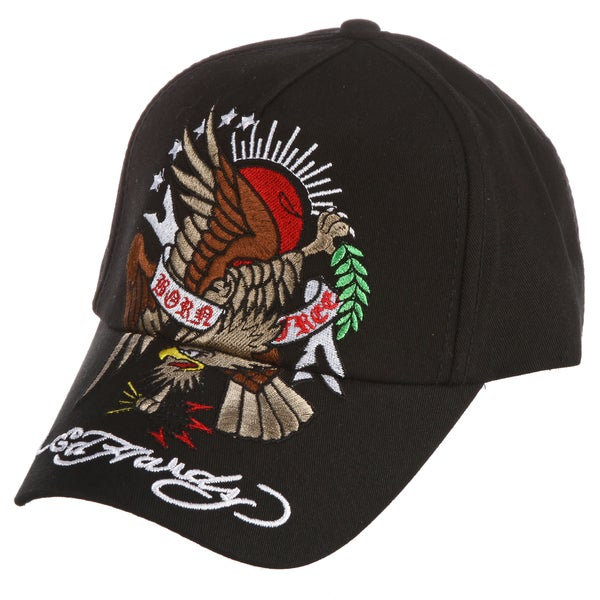 Ed Hardy Boys' 'Eagle and Sun' Embroidered Hat