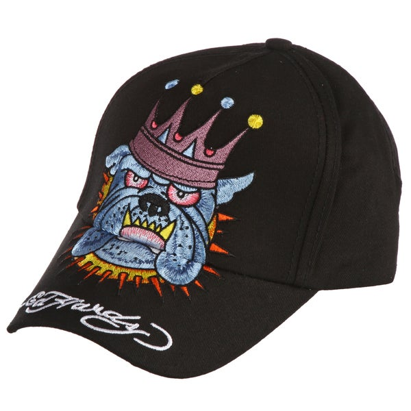 Ed Hardy Boys' 'King Bulldog' Embroidered Hat