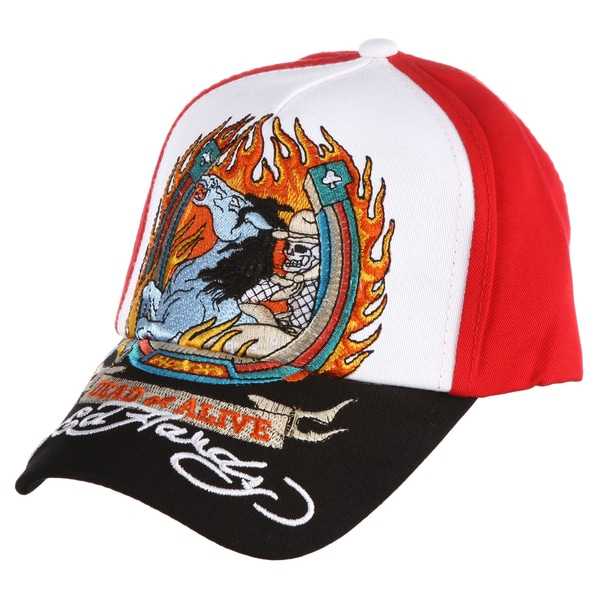 Ed Hardy Boys' 'Demon Horse' Embroidered Hat