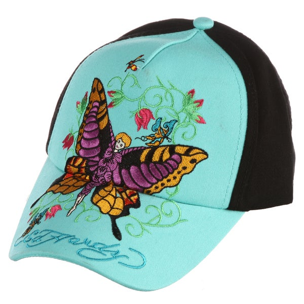 Ed Hardy Girls' 'Butterfly' Embroidered Hat