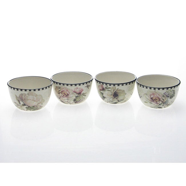 Certified International 'Marche De Fleurs' Ice Cream Bowls (Set of 4)