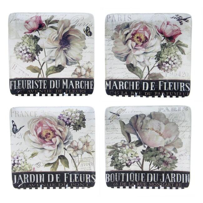 Certified International 'Marche De Fleurs' Dessert Plates (Set of 4)