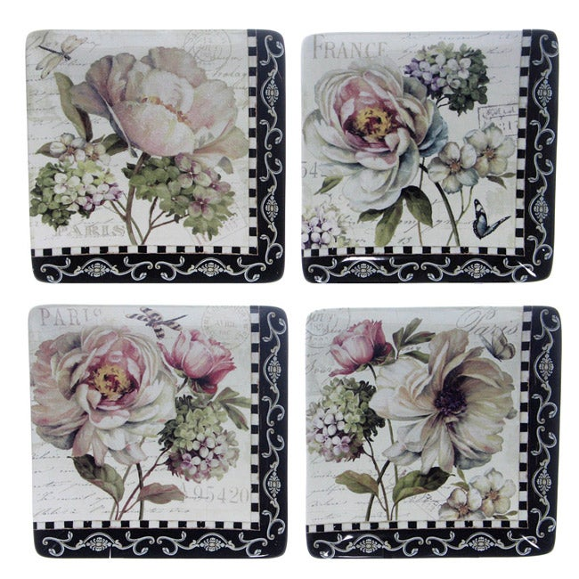 Certified International 'Marche De Fleurs' Dinner Plates (Set of 4)