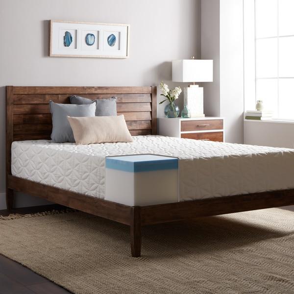select luxury 12inch kingsize medium firm gel memory foam mattress