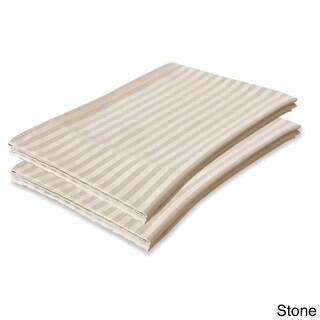 Echelon Home Egyptian Cotton Stripe 800 Thread Count Pillowcases (Set of 2) (Option: Standard / Stone)