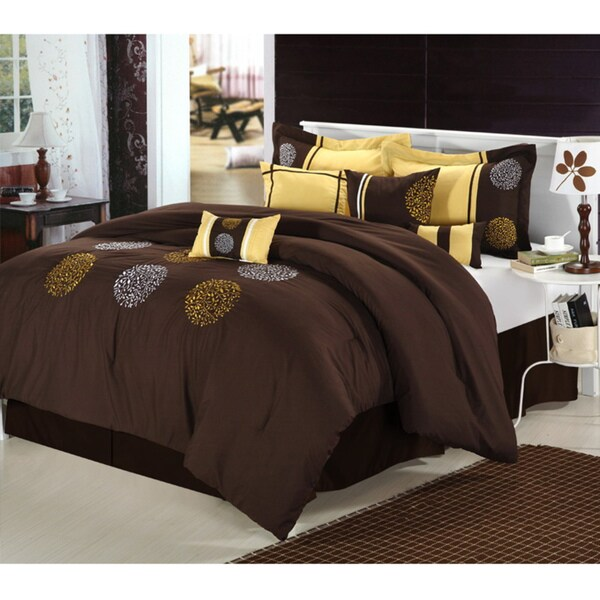 Willow Brown 8-piece Comforter Set