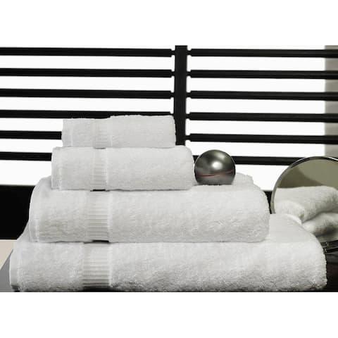 Royal Turkish Towel White Cotton 8-piece Towel Set with Bath Sheets