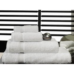 Salbakos White Turkish Cotton 8-piece Towel Set with Bath Sheets - Thumbnail 0