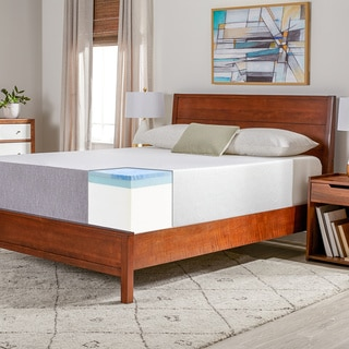 select luxury medium firm 14inch queensize gel memory foam mattress