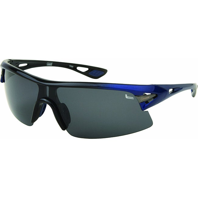 Coleman Men's CC2 Black/ Blue Polarized Sport Sunglasses