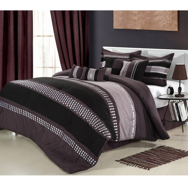 Castle Rock Purple 8-piece Comforter Set