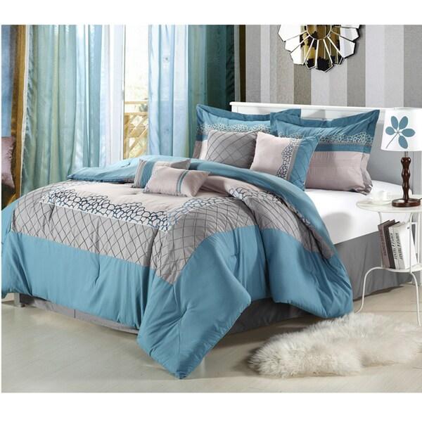 Mustang Blue 8-piece Comforter Set
