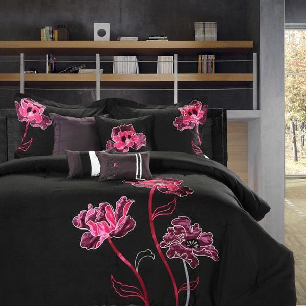 Black Orchid Queen-size 8-piece Comforter Set