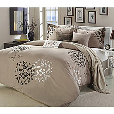 Silver Orchid Negri Taupe 8-piece Comforter Set