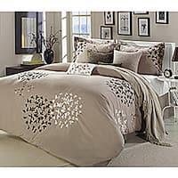 Oliver & James Caro Taupe 8-piece Comforter Set