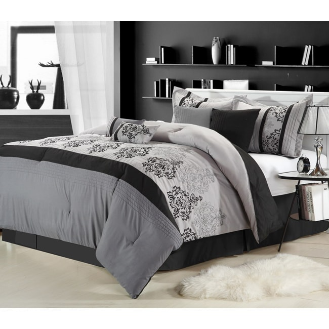 Renaisance Grey 8-piece Comforter Set