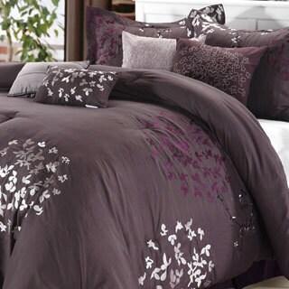 Cheila Plum 8-piece Comforter Set