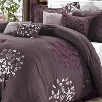 Silver Orchid Mitchum Plum 8-piece Comforter Set