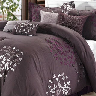 cheila plum 8piece comforter set