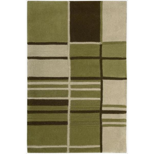 Nourison Hand-tufted Dimensions Green Rug (1'9 x 2'9)