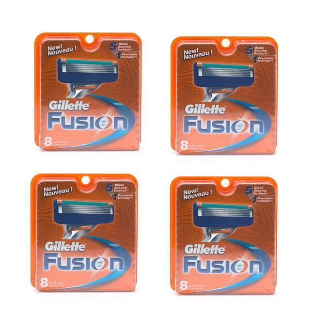 Gillette Fusion 8-count Refill Cartridges (Pack of 4), Black