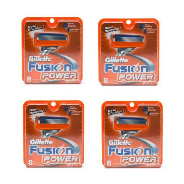 Gillette Fusion Power 8-count Refill Cartridges (Pack of 4)